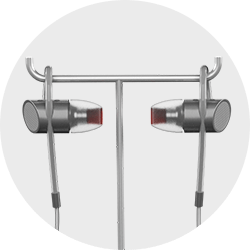 JPlug Headlock button to select earphones